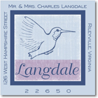 Name Doodles - Square Address Labels/Stickers (Mina Blue)